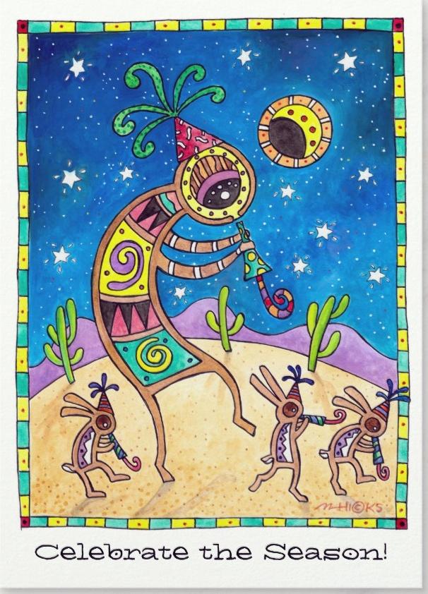 Kokopelli Greeting Card