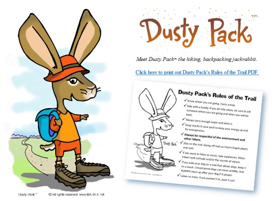 Turkey Coloring Page Meet Dusty Pack Tm And Print Out The Rules Of Trail PDF