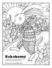 Kokobunny adult Coloring Page Link